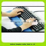 15014 Christmas Promotional Gift Leather Gel Wrist Rest Support Comfort Mouse Pad for PC Keyboard Raised Platform Hands