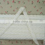 Wholesale 2016 New Arrival 2.5cm Lace Trimming , Cotton White Lace Fabric Ribbon