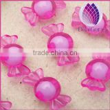 wholesale pink 16mm Bulk chunky acrylic faceted candy beads