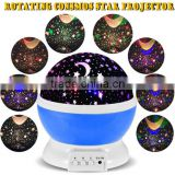 2016 Romantic Rotating Spin Night Light Projector Children Kids Baby Sleep Lighting Sky Star Master Lamp Led Projection Bedroom