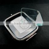 50x58mm setting size metal square blank base bezel silver compact pocket mirror tray with glass cabochon 1991015