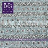High quality polyester mint green water soluble lace fabric korea wholesale