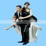 Playful Football Small Polyresin Wedding Love Couple Statue