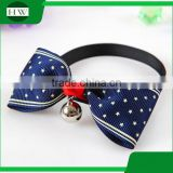 Cute Grid Bowknot Dog Puppy Cat Bow Tie Necktie Dog Collars With Bell Tie Collar ,Cat Collar With Free Sample