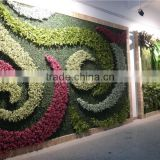 artificial plain style green plant wall for landscaping design from Dongguan ESTE LGH15-07
