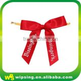 Custom logo printed ribbon bow