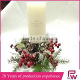 Factory direct sales Christmas candle garland decorative wreath
