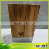 Different Shape Handicraft Wooden Large Decorative Floor Vases
