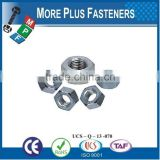 Made in Taiwan DIN 555 Hexagon Nut Galvanized Stainless Steel Zinc Plated