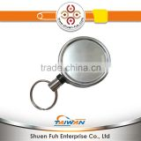 silver color with key chain ID holder yoyo Badge reel