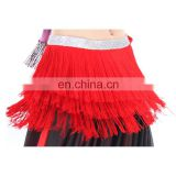 Bestdance Latin Professional Belly Dance 3 Layer Tassel Hip Scarf Belt Tribal silver waist