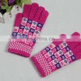 Ladies' cute knit winter wool gloves (JDG-S1B-0306)