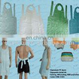 colorful Disposable PVC lab apron