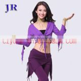 Hot selling practice long sleeve belly dance cardigan top wear S-3023#
