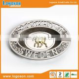 High Quality Sweden Souvenir Custom Metal Zinc Alloy Ashtray