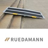 Ruedamann 6' Extra Wide Non-Skid Aluminum Wheelchair Ramp, Lightweight Two Pieces Separated Folding Portable Loading Ramp, Fits Most Wheelchairs Scooters, 600 lbs Capacity (MR607T-6)