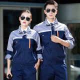 Men and women long-sleeved wear-resistant auto repair factory uniform workshop tooling labor insurance uniform work uniform customization