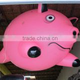 2016 Hot sale inflatable pink pig,pink pig balloon,inflatable pink pig for sale