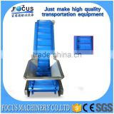 plastic inclined belt conveyor/belt conveyor for food transport/modular plastic inclined belt conveyors