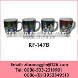 Hot Sale Prootion Porcelain Coffee Cheap Cups with Christmas Design and Good Quality Made in Zibo