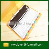 Index divider/paper file divier with colorful index tab                                                                         Quality Choice