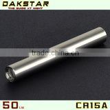 DAKSTAR CR15A 50LM AAAbattery Stainless Steel Mini hand shake LED Flashlight