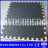 Interlocking Rubber Flooring Tile , FitInterlocking Rubber Flooring Tile , Fitness Center Interlocking Rubber Floor tile for gym