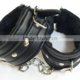 Quality Black Soft Fur Restraint Wrist & Ankle Cuffs Bondage Fetish Role Play