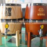 High Quality Keg type Wooden Beer Dispenser Stainless Steel Inside with Tap                                                                         Quality Choice