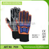oil repellent fabric oil field machanic glove water and oil resistant synthetic leather coated with Silicon Dots