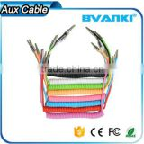 New products 2016 Colorful Spring Design 3.5mm male audio aux stereo jack cable online shopping alibaba express