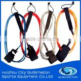 Assorted Color TPU Surfboard Leash, Leg Rope With Brass/Stainless Steel Swivel/Silk Printing Gard, Neoprene AnkleStrap