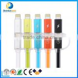 Colorful USB cable chaging & data LEDlight USB cable for iPhone5/6 ipad