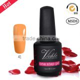 V.Chlo one step gel nail polish,no base no top coat one step gel ,1 step gel with100 colors