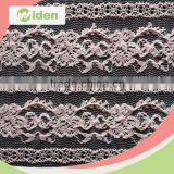 New arrival productions pink color nylon net lace chantilly lace fabric                                                                                                         Supplier's Choice