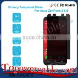 Best Privacy Cell Phone Tempered Glass Screen Protectors With Packing For Asus ZenFone 2 5.5 ZE551ML