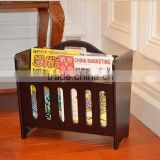 Modern Mahogany Wooden Magazine Rack Monica, Wooden magazines rack, Wooden Display Rack, wooden book racks for office