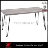 Modern wood coffee table with hairpin legs                                                                                                         Supplier's Choice