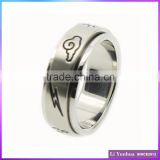 Stainless Steel Spinner Etching Cloud Shape Round Ring SR-9004