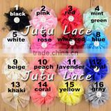 New Hot Sale!! 16 colors Double white gauze lace headdress flower Lace pearl flower Europe and the United States children tire
