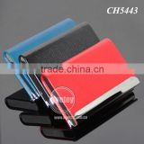 New Arrival High-Grade Magnetic Lock Stainless Steel Metal Black Leather Luxury Business Card Case