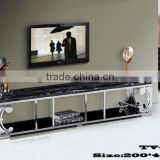 waterproof high black gloss natural marble top TV- stand TV-821#