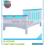 Colorful kids bed furniture wood boat bed with study table toddler trundle beds#SP-ZC029M