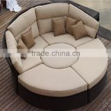 Outdoor Rattan Wicker Garden Furniture Set round sofa bed                                                                         Quality Choice