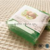Home use 110g facial and body whitening soap with kiwi fruit essence