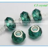 8*14mm glass big hole beads, big hole crystal beads for bracelet                                                                         Quality Choice