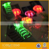 2015 most popular led rainbow shoelaces metal shoelace tag with custom logo flaashing leopard print shoelaces