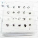 fashion silver nose stud