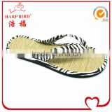 latest design bamboo flip flops china