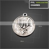 YP2979 original single jewelry retro embossed angel girl characters like disc pendant zinc alloy fittings